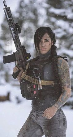 Girl with a Weapon girl guny nude latenas Military girl . Women in the military . Women with guns . Girls with weapons Alex Zedra, Female Soldier, Army Soldier, Female Marines, Female Warriors, Military Girl, Military Women, Badass Women, Pinup