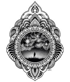Simpler one from a few weeks ago for a rad clothing company. Tattoo Drawings, Body Art Tattoos, Sleeve Tattoos, Art Drawings, Tatoos, Design Tattoo, Mandala Tattoo Design, Tattoo Designs, Mandalas Painting