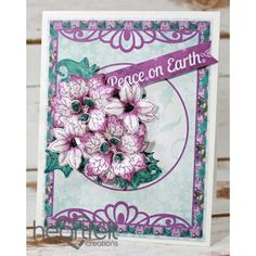 Gallery | Peace On Earth Purple Poinsettias - Heartfelt Creations
