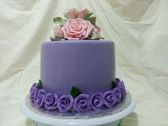 Coffee Caramel Cake in Pink and Purple