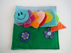 """I was wanting to make a """"string along"""" activity page . . . I like this idea of using different shapes to make the caterpillar!"""