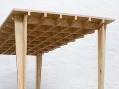 Boarded Floor Table by Steven Schreurs and Thomas Roelandts