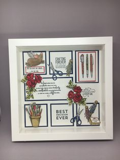 Box Frame Art, Shadow Box Frames, Collage Frames, Paper Frames, 3d Paper Crafts, Crafts To Do, Paper Wall Art, 3d Projects, Paper Decorations