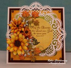 #heartfeltcreations by Robin Clendenning-Sunflowers Fall @hcofficial #ClassicSunflowers #BearyFunRetreat How To Make Scrapbook, Scrapbook Cards, Scrapbooking Ideas, Sunflower Cards, Sunflower Bouquets, Heartfelt Creations Cards, Card Making Techniques, Fall Cards, Christmas Cards