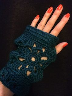 Fingerless gloves I made in this gorgeously soft yarn- red heart soft. Got some orders in for Christmas presents!
