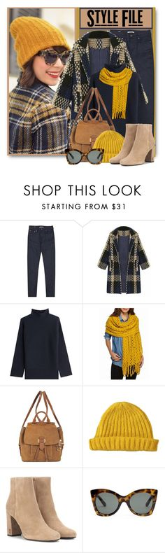 """""""Splash of Mustard"""" by brendariley-1 ❤ liked on Polyvore featuring Reiss, Steffen Schraut, Steve Madden, MICHAEL Michael Kors, Lowie, Yves Saint Laurent and Le Specs"""