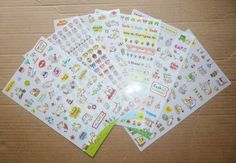 Cute Cat Diary Sticker Set  6 Sheets by AzraelWest on Etsy