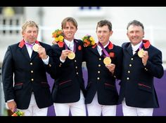 Nick Skelton, Ben Maher, Scott Brash and Peter Charles in Equestrian team jumping 2012