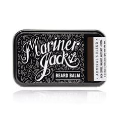 The Mariner Jack Privateer beard balm. This is in my opinion, as good as beard care gets! Amazing product, incredible scent and the branding spot on! Beard Wax, Beard Butter, Die 100, Neroli Oil, Mustache Wax, Unrefined Shea Butter, Sweet Almond Oil, Hair And Beard Styles, Jars
