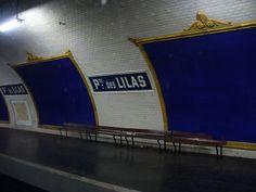 """La station Porte des Lilas - Cinéma, où un quai """"mort"""" est utilisé pour les tournages de films et de pub."""