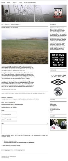Gastown F.C by Stuart Hobday, via Behance