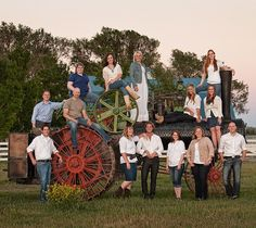 grab the family and sit on a tractor for a great picture