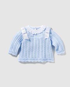 Jersey de bebé niño en azul con ochos