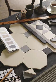 from Original style victorian floor tiles brochure Hall Tiles, Tiled Hallway, Victorian Tiles, Modern Victorian, Victorian Conservatory, Bathroom Floor Tiles, Tile Floor, Style Gris, Floor Design
