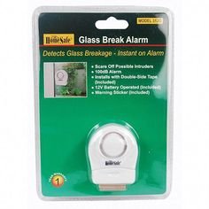 HomeSafe® Wireless Window Glass Break Alarm - The Home Security Superstore Home Security Tips, Wireless Home Security Systems, Security Solutions, Security Products, House Security, Security Surveillance, Security Alarm, Safety And Security, Security Camera