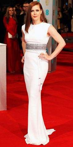 2015 BAFTAs Red Carpet - Amy Adams in Lanvin, Jimmy Choo and Cartier #InStyle