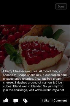 Cherry cheesecake VISALUS shake