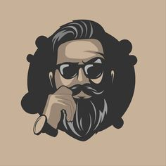 This type of beard illustration is certainly a noteworthy design conception. Beard Logo, Beard Tattoo, Barber Logo, Beard Art, Viking Beard, Beard Humor, Whatsapp Dp Images, Beard Styles, Graphic