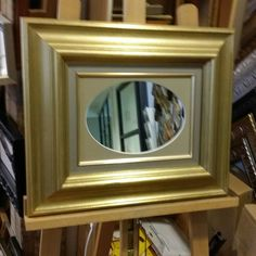 Mirror made of leftovers and recycled frame.