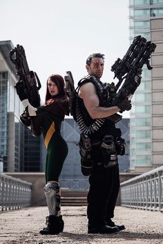 Hope Summers & Cable Cosplay http://geekxgirls.com/article.php?ID=2411