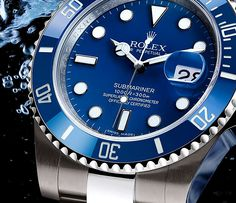Rolex Submariner with Blue Dial white gold