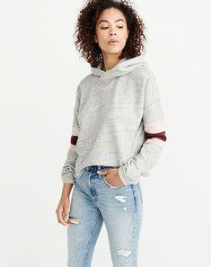 Activewear Hollister California Womens Long Sleeve Hoodie Sweatshirt S White Superior Performance