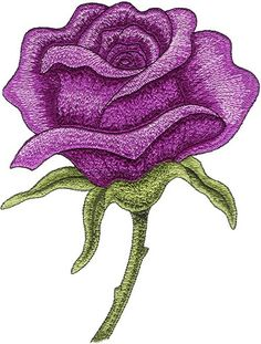Flower machine embroidery design