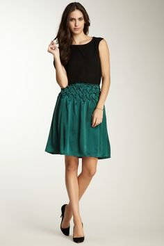 Seasonless Silk  KAS Hand Smocked Silk Skirt, there IS a place for smocking :)