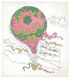 Christmas Card by Andy Warhol, circa 1956.