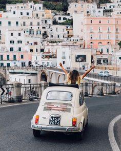 Julie Sarinana in Amalfi, Italy Summer starts here ✨ #adventurebeautifully