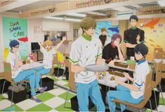 [Official Art] Free! || IwatoSame Collaboration Café