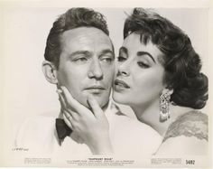 "Elizabeth Taylor with Peter Finch for ""Elephant Walk"""