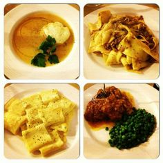 Vini e Vecchi Sapori: soup, pappardelle with duck ragu, pasta with squash blossoms, and veal shank
