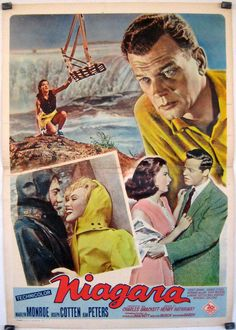 NIAGRA (1953) - Marilyn Monroe - Joseph Cotten - Jean Peters - Casey Adams - Denis O'Dea - Richard Allan - Don Wilson - Lurene Tuttle - Russell Collins - Directed by Henry Hathaway - 20th Century-Fox - Movie Poster.