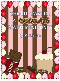 This unit includes 3 math activities all centered around chocolate! These activities work great as mini math lessons, small group, math tub, or math station activities.    Includes:  *Chocotastic Roll and Cover: Adding 3 Numbers  *Chocolate Place Value (tens, ones)  *Sweet Scoot Word Problems: Mixed Addition and Subtraction to 20
