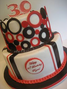 Ryan's 30th Birthday Cake by Stephanie (Cake Fixation), via Flickr