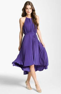 Maggy London Pleated High/Low Halter Dress available at Nordstrom