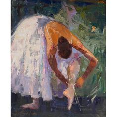 'Lacing Up' Ballet Canvas Print....so pretty for a young girls room.