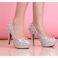 Sapato Cristal Strass De Noiva Casamento Scarpin Salto 11cm - R$ 549,90