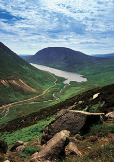 The Silent Valley, County Down: heather-strewn moors, grazing sheep, and solitude, all wrapped up in the stunning Mourne Mountains.