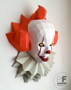 396 Pennywise 2017 PolyDead by papelinarte.deviantart.com on @DeviantArt