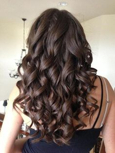 Bouncy Brunette Curls..I want my long hair back!!!