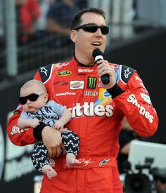 Kyle Busch and his son Brexton in our Haters Gonna Hate One-piece