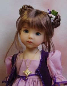 A Dianna Effner Little Darling sculpt #1 painted by Joyce Mathews, Kuwahi Dolls.