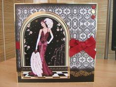 Handmade Birthday Card - Art Deco Lady   Kibbs Cards MISI Handmade Shop