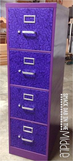 FILING CABINET UPCYCLE.  DIY instructions for a fabulous filing cabinet.