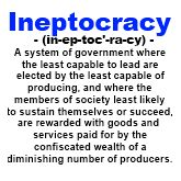 Ineptocracy Definition - Political T-Shirt - $9.99