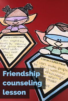 """T his elementary school counseling classroom guidance lesson introduces qualities of a good friend. Use the """"SUPER"""" acrostic to describe good friendship qualities! Students have the opportunity to write about and share a time when they were SUPER friends or ideas for time they can be great friends in the future! This activity is great for classroom guidance lessons or small group counseling activities."""