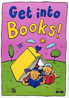 Get into books/ illustration by Nick Sharratt (2000)