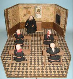 Minilys Miniatures: Mini escuela antigua de la web tesoros del ayer.